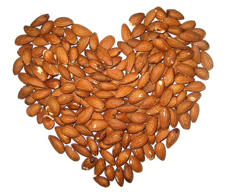 almonds-heart