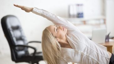 Business Woman Doing Fitness Exercise
