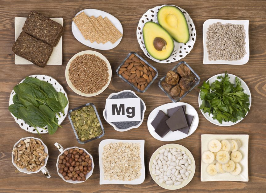 Food containing magnesium: pumpkin seeds, poppy seed, beans, cho