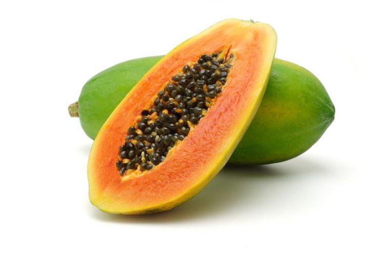 Calorias de las frutas papaya